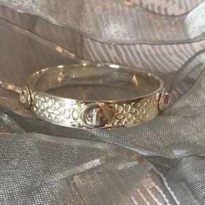 Coach logo silver bracelet